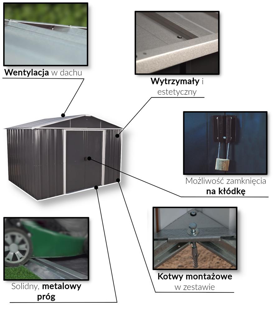 Cechy modeli Yardmaster AEYZ domki ogrodowe